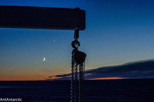moon and venus antarctica
